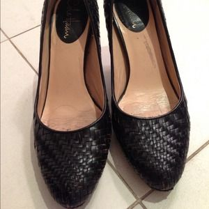 Woven leather Cole Haan pumps
