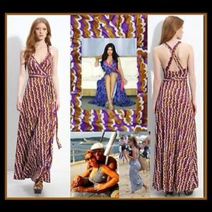 Diane Von Furstenberg Wrap Maxi Dress NEW