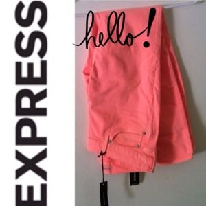Express Denim - 🎉3x Host Pick🎉 Neon Coral Stella jean leggings