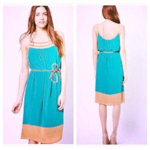 🎉2X HOST PICK🎉Teal & Peach dress w/embellishment