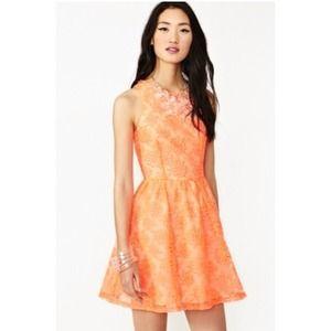PINK NOT ORANGE look nastygal dress