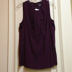 Vince Tops - Vince Plum Sleeveless Ruffle Blouse 10 NWT
