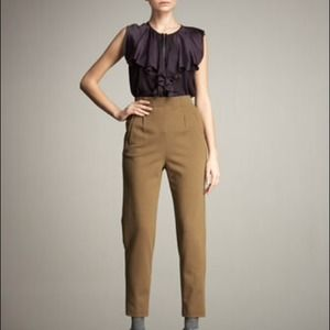 Lanvin High Waist Stretch Wool Blend Pant 8/40 NWT