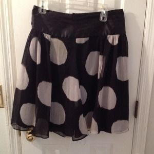 Kenar Dresses & Skirts - Black & white polka dots skirt