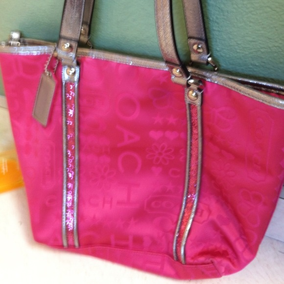 60% off Coach Handbags - Hot pink Coach purse from Marisa's closet ...