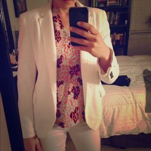 White cotton Zara blazer