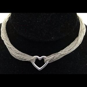 ❤Final Price Cut❤ Tiffany&Co. Mesh Heart Necklace