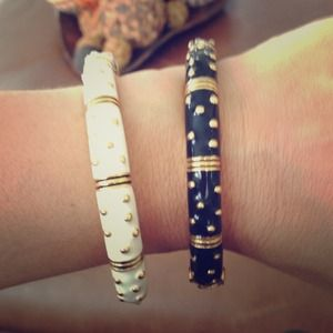 Black OR White Enamel Bracelets