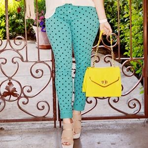 Nasty Gal Denim - Polka Dot Skinnies
