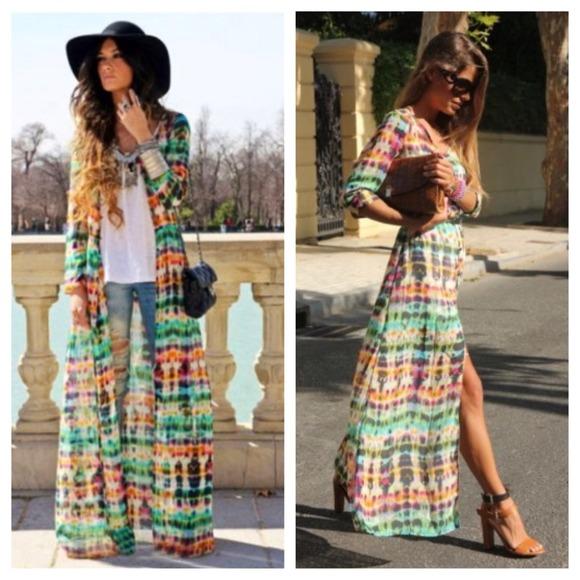 72b1a6b6 Zara, Tie Dye Maxi Dress. M_51c64e7dda47f80610000f07