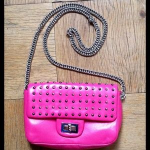 NWOT Hot Pink Studded Purse