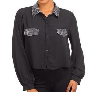 Tops - Black with sequins top
