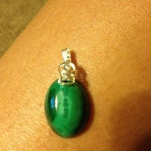 Jewelry - Natural malachite gem 925 sterling silver stamped