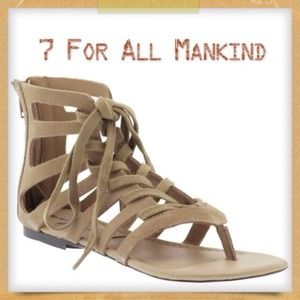 New 7 For All Mankind Gladiator Sandals!