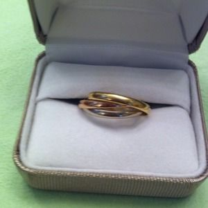 Cartier trinity three tone gold ring