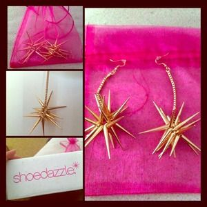 Gold Spiked Earrings from ShoeDazzle