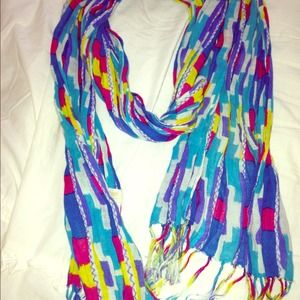 Madewell bright colors scarf