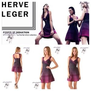 Herve Leger New Authentic Ombré Edita Dress S