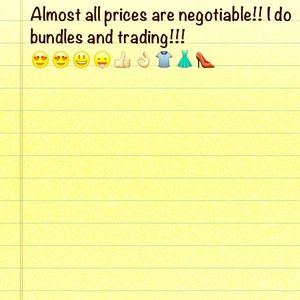 Over 130 items and All prices are negotiable!