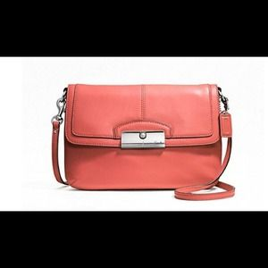 SaleCoach coral cross body leather bag