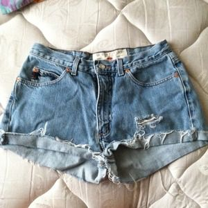Custom Studded High Waisted Shorts