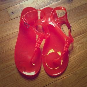 Aeropostale  Shoes - 🎉HOST PICK 7/8🎉--Orange jelly sandals