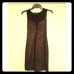 Forever 21 black and gold Leopard dress