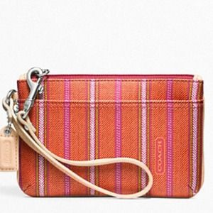Coach Legacy Weekend Ticking small wristlet