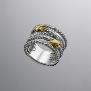 DAVID YURMAN CROSSOVER DOUBLE X RING 