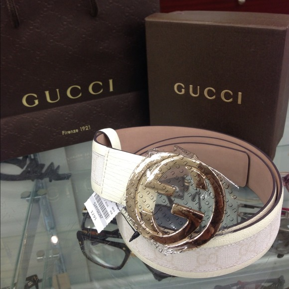 29a49259c Gucci Accessories | White Belt | Poshmark