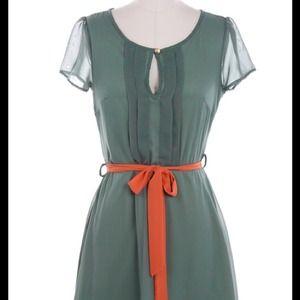 Polka Dot Keyhole Dress