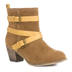 Brand NEW Cute Booties with Contrasting Buckles