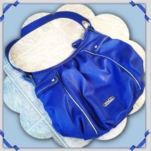 Cobalt Blue Nine & Co Shoulder Purse