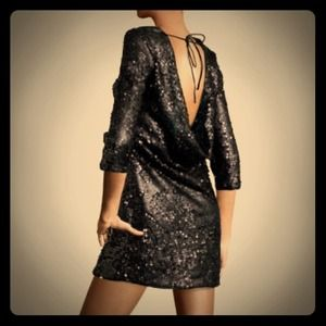 H&M Sequin dress with open back: Size 4 NWT
