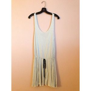 ❌SOLD❌ Polka Dot Drawstring Tank Dress