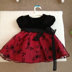 Other - Infant velvet and lace dress.