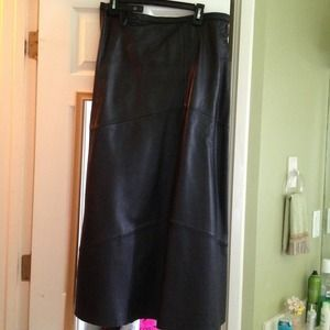 Dresses & Skirts - Black full length leather skirt