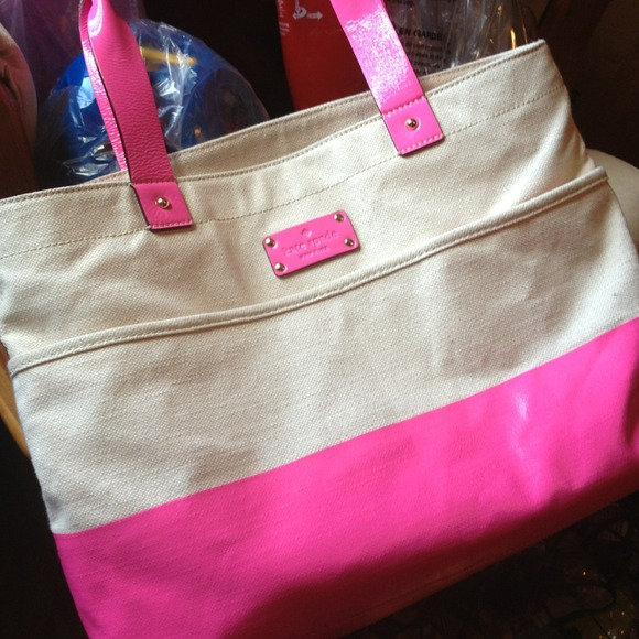 67% off kate spade Handbags - Kate spade summer canvas tote NO ...