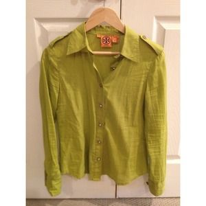 Authentic Tory Burch Button Up Top