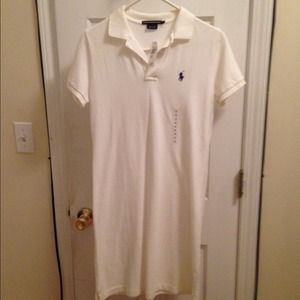 Ralph Lauren Polo Dress - White NWT!