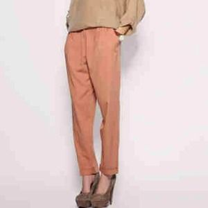 RESERVED: HOST PICK: Dark Blush Slouchy Trouser