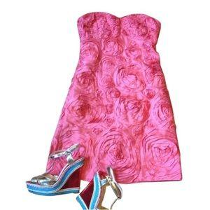 Pink Jcrew collection floral A-line Cocktail dress