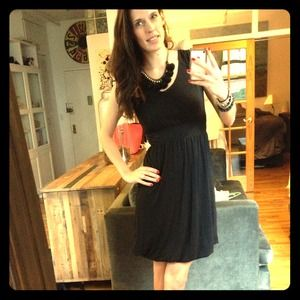 Bubble hem little black dress