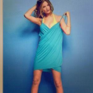 Swim Wrap Cover Dress NWT fits XS to medium