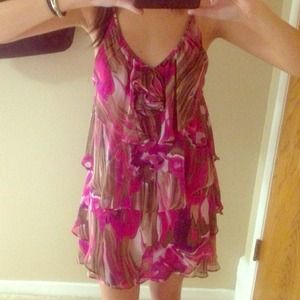 Pink / Fuchsia Flowy Sun-Dress