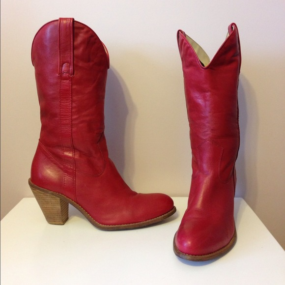 73% off Jessica Simpson Boots - Jessica Simpson red cowgirl boots ...