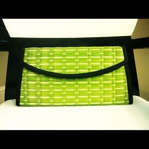 Clutches & Wallets - Baskets of Cambodia Green & Black Clutch