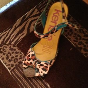 Shoes - Kensie Girl Cheetah Heels NWOT