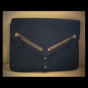 Botkier trigger clutch black leather