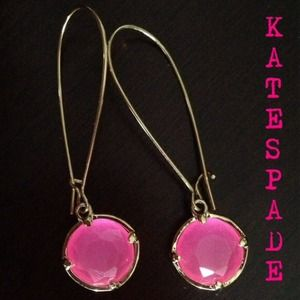 Kate Spade Long Crystal Drop Earrings